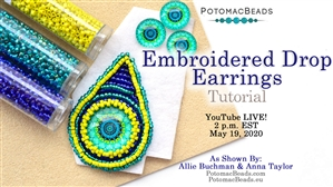 How to Bead / Free Video Tutorials / Beadweaving & Component Projects / Basic Bead Embroidery Live Tutorial