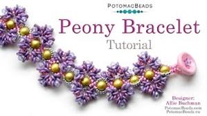 How to Bead / Free Video Tutorials / Bracelet Projects / Peony Bracelet Tutorial