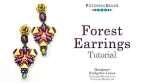 How to Bead Jewelry / Videos Sorted by Beads / Potomac Crystal Videos / Forest Earrings Tutorial