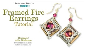 How to Bead / Videos Sorted by Beads / All Other Bead Videos / Framed Fire Earrings Tutorial