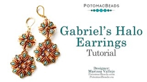 How to Bead / Videos Sorted by Beads / Potomax Metal Bead Videos / Gabriel's Halo Earrings Tutorial