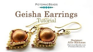 How to Bead Jewelry / Videos Sorted by Beads / All Other Bead Videos / Geisha Earrings Tutorial