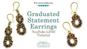 How to Bead / Videos Sorted by Beads / SuperDuo & MiniDuo Videos / Graduated Statement Earrings