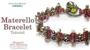 How to Bead Jewelry / Beading Tutorials & Jewel Making Videos / Bracelet Projects / Materello Bracelet Tutorial