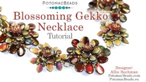 How to Bead / Free Video Tutorials / Necklace Projects / Blossoming Gekko Necklace Tutorial