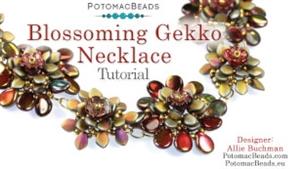 How to Bead Jewelry / Beading Tutorials & Jewel Making Videos / Bead Weaving Tutorials & Necklace Tutorial / Blossoming Gekko Necklace Tutorial