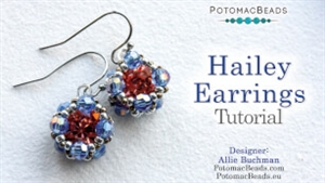 How to Bead Jewelry / Videos Sorted by Beads / Potomac Crystal Videos / Hailey Earrings Tutorial