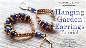 How to Bead Jewelry / Videos Sorted by Beads / Potomac Crystal Videos / Hanging Garden Earrings Tutorial