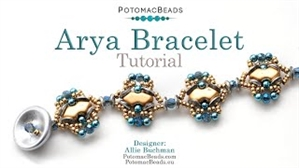 How to Bead Jewelry / Videos Sorted by Beads / Potomac Crystal Videos / Arya Bracelet Tutorial
