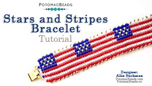 How to Bead / Videos Sorted by Beads / Seed Bead Only Videos / Stars & Stripes Bracelet Tutorial