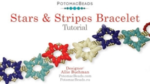 How to Bead Jewelry / Videos Sorted by Beads / SuperDuo & MiniDuo Videos / Stars and Stripes Design Tutorial
