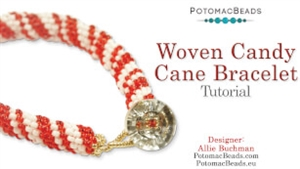 How to Bead / Videos Sorted by Beads / Seed Bead Only Videos / Woven Candy Cane Bracelet Tutorial