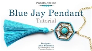 How to Bead / Free Video Tutorials / Pendant Projects / Blue Jay Pendant Tutorial