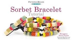 How to Bead Jewelry / Beading Tutorials & Jewel Making Videos / Bracelet Projects / Sorbet Bracelet Tutorial