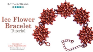 How to Bead Jewelry / Videos Sorted by Beads / SuperDuo & MiniDuo Videos / Ice Flower Bracelet Tutorial
