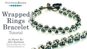 How to Bead Jewelry / Beading Tutorials & Jewel Making Videos / Bracelet Projects / Wrapped Rings Bracelet Tutorial