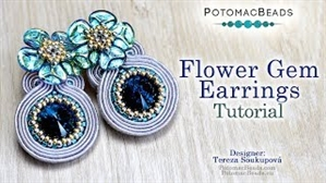 How to Bead Jewelry / Videos Sorted by Beads / Potomac Crystal Videos / Flower Gem Earrings Tutorial