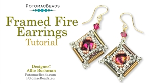 How to Bead Jewelry / Videos Sorted by Beads / Potomac Crystal Videos / Framed Fire Earrings Tutorial