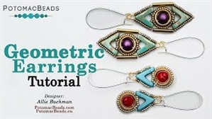 How to Bead Jewelry / Videos Sorted by Beads / Cabochon Videos / Geometric Earrings Tutorial