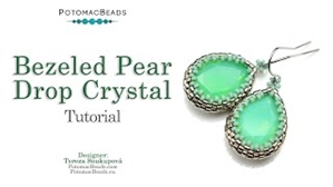 How to Bead / Free Video Tutorials / Earring Projects / Bezeled Pear Drop Crystal Tutorial