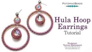 How to Bead Jewelry / Videos Sorted by Beads / Potomac Crystal Videos / Hula Hoop Earrings Tutorial