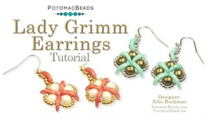 How to Bead / Videos Sorted by Beads / CzechMates Bead Videos / Lady Grimm Earrings Tutorial