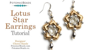 How to Bead Jewelry / Videos Sorted by Beads / Potomac Crystal Videos / Lotus Star Earring Tutorial