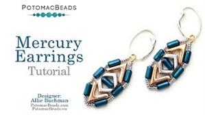 How to Bead / Videos Sorted by Beads / Potomax Metal Bead Videos / Mercury Earrings Tutorial