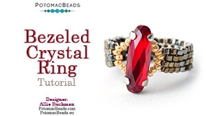 How to Bead / Free Video Tutorials / Ring Projects / Bezeled Crystal Ring Tutorial