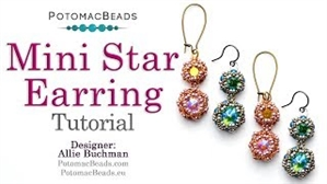 How to Bead Jewelry / Videos Sorted by Beads / Potomac Crystal Videos / Mini Star Earrings Tutorial
