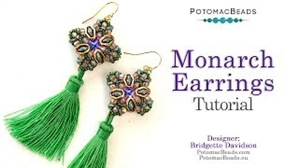 How to Bead / Videos Sorted by Beads / Potomax Metal Bead Videos / Monarch Earrings Tutorial