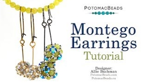 How to Bead / Videos Sorted by Beads / Gemstone Videos / Montego Earrings Tutorial