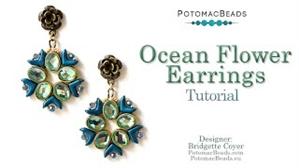 How to Bead / Videos Sorted by Beads / Potomax Metal Bead Videos / Ocean Flower Earrings Tutorial