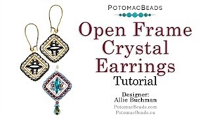 How to Bead Jewelry / Videos Sorted by Beads / Potomac Crystal Videos / Open Frame Crystal Earrings Tutorial