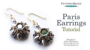 How to Bead Jewelry / Videos Sorted by Beads / Potomac Crystal Videos / Paris Earrings Tutorial