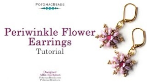 How to Bead / Videos Sorted by Beads / CzechMates Bead Videos / Periwinkle Flower Earrings Tutorial