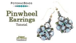 How to Bead Jewelry / Videos Sorted by Beads / Potomac Crystal Videos / Pinwheel Earrings Tutorial