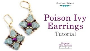 How to Bead Jewelry / Videos Sorted by Beads / Potomac Crystal Videos / Poison Ivy Earrings Tutorial