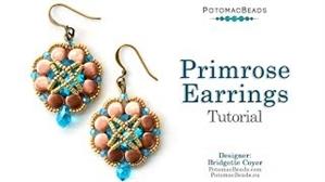 How to Bead Jewelry / Videos Sorted by Beads / Potomax Metal Bead Videos / Primrose Earrings Tutorial