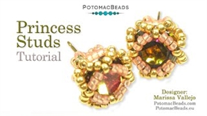 How to Bead / Videos Sorted by Beads / All Other Bead Videos / Princess Stud Earrings Tutorial