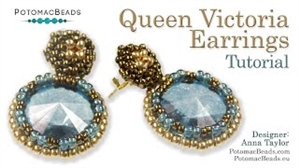 How to Bead Jewelry / Videos Sorted by Beads / Potomac Crystal Videos / Queen Victoria Earrings Tutorial
