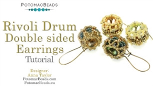 How to Bead Jewelry / Videos Sorted by Beads / Potomac Crystal Videos / Rivoli Drum Earrings Tutorial