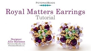 How to Bead Jewelry / Videos Sorted by Beads / Potomac Crystal Videos / Royal Matters Earrings Tutorial