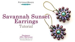 How to Bead Jewelry / Videos Sorted by Beads / Potomax Metal Bead Videos / Savannah Sunset Earrings Tutorial