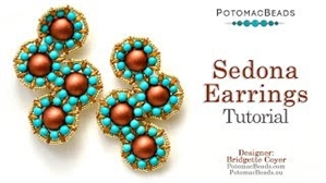 How to Bead / Videos Sorted by Beads / Gemstone Videos / Sedona Earrings Tutorial