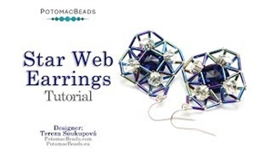 How to Bead Jewelry / Videos Sorted by Beads / Potomac Crystal Videos / Star Web Earrings Tutorial