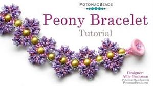 How to Bead Jewelry / Videos Sorted by Beads / Potomac Crystal Videos / Peony Bracelet Tutorial