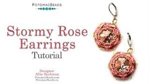 How to Bead / Videos Sorted by Beads / StormDuo Bead Videos / Stormy Rose Earrings Tutorial