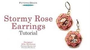 How to Bead / Videos Sorted by Beads / Potomac Crystal Videos / Stormy Rose Earrings Tutorial