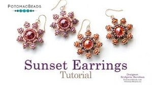 How to Bead / Videos Sorted by Beads / Potomax Metal Bead Videos / Sunset Earrings Tutorial
